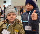 Kids arriving in Italy via Humanitarian Corridor