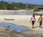 Kiribati youth on the sand