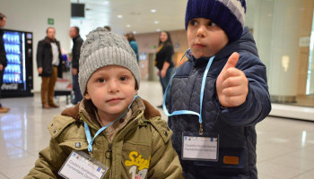 Kids arriving in Italy via Humanitarian Corridor